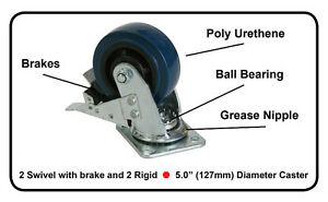 Heavy Duty Casters - 2600 Lbs capacity ( Price is for 4 wheels)
