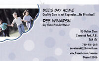 Dee's Day Home has an opening