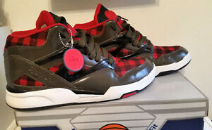 ORIGINAL-BOX-DEMO-UNISEX-REEBOK-RED-amp-BLACK-CHECKER-DEMO-GREA