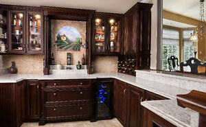 Kitchen Cabinets, All Wood Elite Merlot @QuebecKitchens.ca