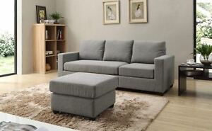 4 Seaters 208cm Fabric Sofa Couch Melbourne CBD Melbourne City Preview