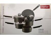 Prestige Hard Anodized Cookware 5 Piece Set Brand New