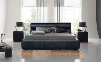 Moving sale new Pu leather timber metal bed from$99  Movingg