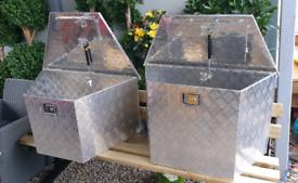 Trailer drawbar recovery truck van aluminium storage tool boxes
