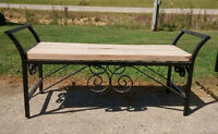 Handcrafted Metal & Wooden Benches