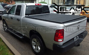 DODGE RAM QUAD CAB: HARD Tri-Fold Cover | Solid Tonneau Cover