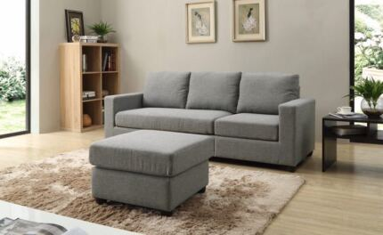 Brand New 4 Seaters 208cm Fabric Sofa Couch