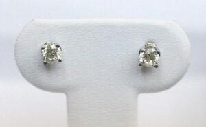 .4 Carat Diamond Stud Earrings w/ 14 Carat White Gold