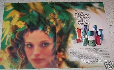 1971 print ad - Kotique feminine hygiene Douche bath Kotex vintage 2-PAGE ADVERT