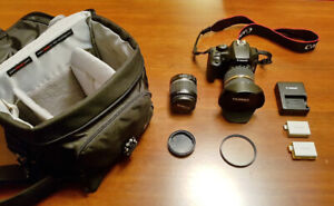 Canon Rebel XS DSLR Camera with 2 Lenses: Standard & Wide Angle!