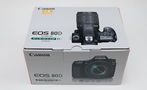 Brand new Canon EOS 80D DSLR Camera with 18-135mm