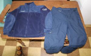 Columbia full zippered ski snow insolated snow pants jacket set