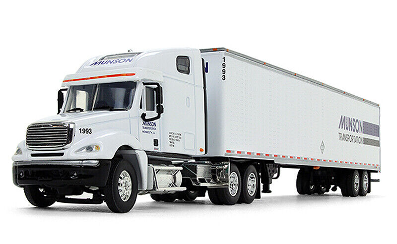 1/64 DCP Munson Transportation - Freightliner Columbia High Roof Sleeper with 53