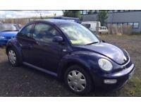 02 plate Volkswagen Beetle 1.6 petrol **motd till sept**
