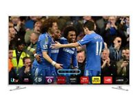 "White samsung 48"" LED smart 3D WiFi TV built in USB player HD freeview.full HD"