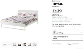 King size bed & memory foam mattress (bought 1 year ago for £315)