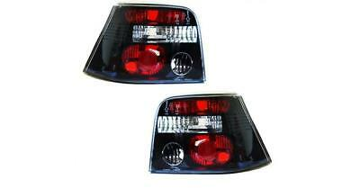 Volkswagen Golf MK4 1997 - 2006 HB Tuning Rear Tail Light Lamp Clear/Black PAIR