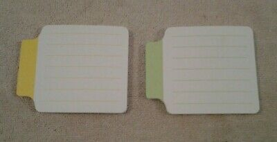 3m Post-it Super Sticky Lined Pull Tab Note Pads Yellow Green 45 Per Pad New