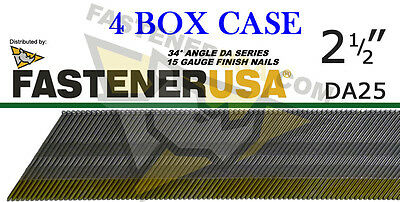 DA25 15 Gauge Angled Finish Nails 34 Degree 2 1/2