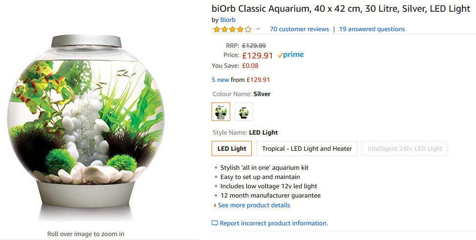 Biorb Aquarium Fish Tank In Leeds City Centre West Yorkshire