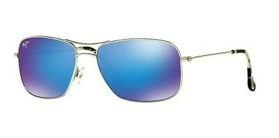 Maui Jim Wiki Wiki B246-17 Silver / Blue Hawaii Aviator Polarized Sunglasses (Maui Jim Pilot Polarized Sunglasses)