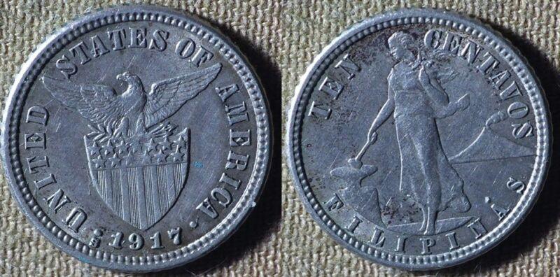 Philippines : 1917S 10 Ct  CH.AU  #169   IR5047