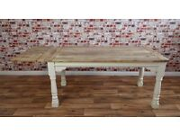 Farmhouse Extending Rustic Dining Table - Seats up to 12 people