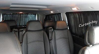 Mercedes Vito Viano (638,639) curtains set for 2 side windows black color