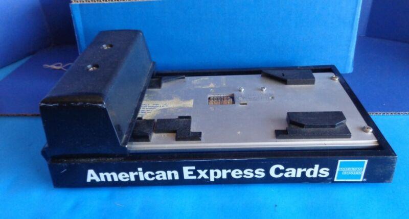 ADDRESSOGRAPH MANUAL CREDIT CARD IMPRINT MACHINE- AMERICAN EXPRESS