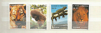 ST THOMAS AND PRINCE ISLANDS SCOTT 1237-40 MNH SCV $15