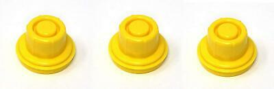 3 Pk Jsp Replacement Yellow Gas Can Spout Cap Top For Blitz 900094 900092 900302