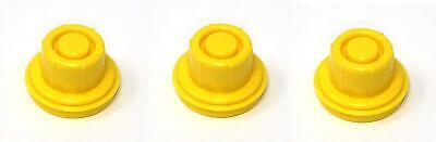 3 Pk Jsp Replacement Yellow Gas Can Spout Cap Top For Blitz 900094 900092 900302