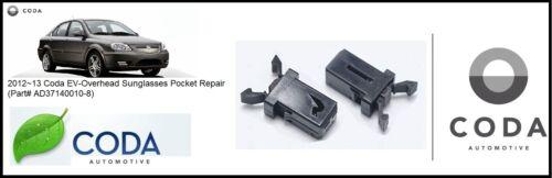 2012~13 Coda EV-Overhead Console Sunglasses Pocket Repair-(Part# AD37140010-8)