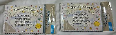 Baby Shower Invites VTG Invitations 16 Cards 16 Envelopes w/guest - Baby Shower List