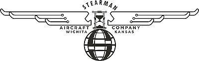 STEARMAN LOGO  Banner- Vintage   FREE SHIPPING