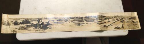 "WWI = CAMP DODGE IOWA - TRAINING STATION 1919  = YARD LONG PHOTO = 60"""
