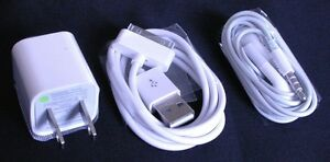 iphone 4 4s sync cable headphone with mic wall charger