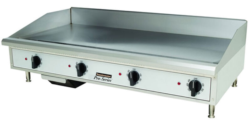 """Toastmaster Tmgm48 Countertop 48"""" Manual Control Gas Griddle"""