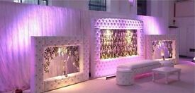 BRAND NEW Leather Asian Wedding Backdrop Conference Stage Pillars