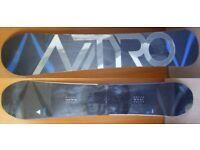 Nitro Blacklight Gullwing Snowboard 163cm and Burton HD Bindings (size Large)