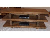 Handmade Rustic 3 Tier Widescreen TV Unit