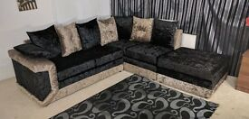 DINO 3+2 SEATER SOFA IN CRUSHED VELVET | 1 YEAR WARRANTY | UK EXPRESS DELIVERY