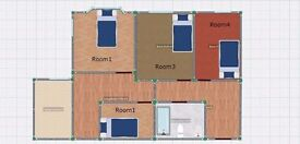 BOW DOUBLE BEDROOM ZONE 2 'GREAT CONNECTIONS AND TRANSPORT LINKS'
