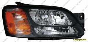 Head Light Passenger Side Gt Outback Without Sport High Quality Subaru Legacy 2000-2004