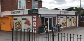 Run your own Food to Go business from busy convenience store. Fully equipped kitchen and display