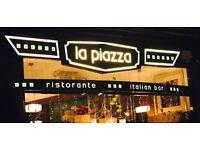 Pizza Chef Required at La Piazza Restaurant