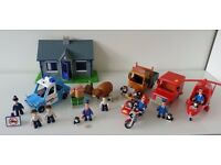 Postman Pat SDS bundle including van, helicopter, motorbike, figures police station and many others
