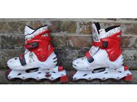 Girls Bratz Rock adjustable roller skates in size J12 to 1