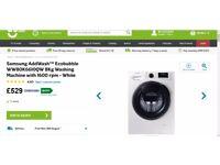 BRAND NEW Samsung addWash ecobubble WW80K6610QW 8KG washing machine with 1600rpm - white