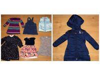 35 x GIRLS 2-3 YEARS JOBLOT INC BILLIEBLUSH COAT , NEXT DUNGAREES + DRESSES,GAP